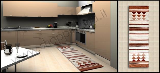 Arreda la Cucina con i nostri tappeti con Decoro Triangoli in ...