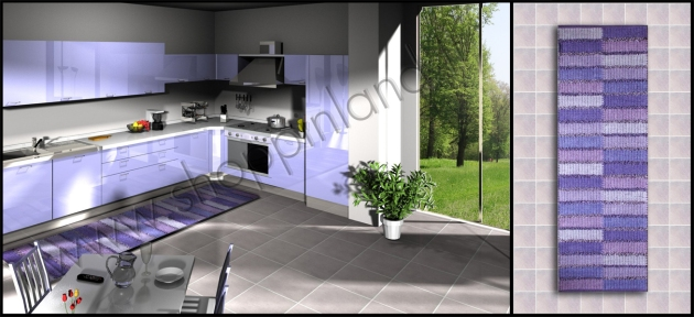 Passatoie cucina decoro patchwork tappeti bamboo per il for Passatoie per cucina