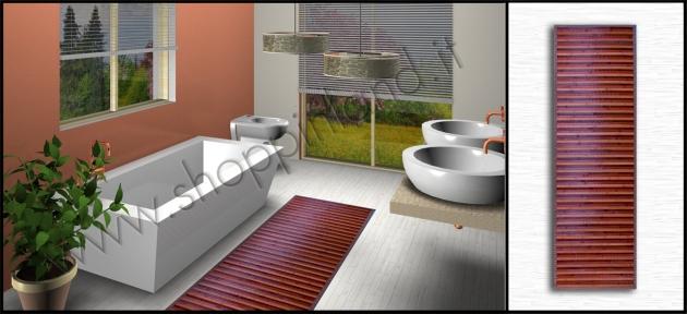 Tappeti bamb azzurro rosso arancione marrone beige - Arreda la tua casa ...
